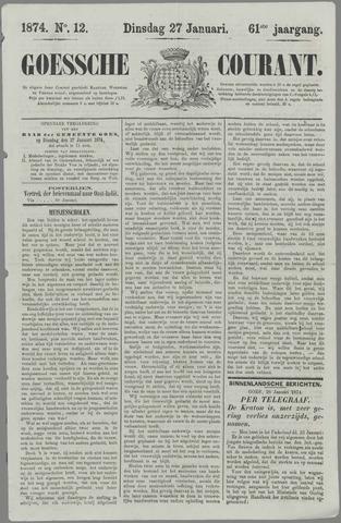Goessche Courant 1874-01-27