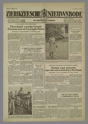 Zierikzeesche Nieuwsbode 1958-09-09