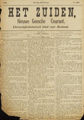 Het Zuiden, Christelijk-historisch blad 1886-02-20