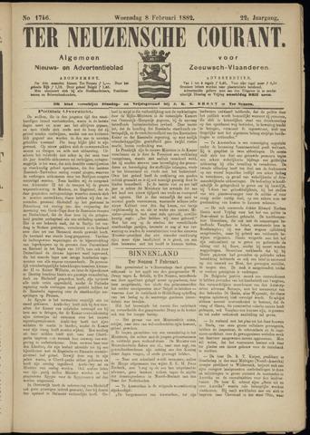 Ter Neuzensche Courant. Algemeen Nieuws- en Advertentieblad voor Zeeuwsch-Vlaanderen / Neuzensche Courant ... (idem) / (Algemeen) nieuws en advertentieblad voor Zeeuwsch-Vlaanderen 1882-02-08