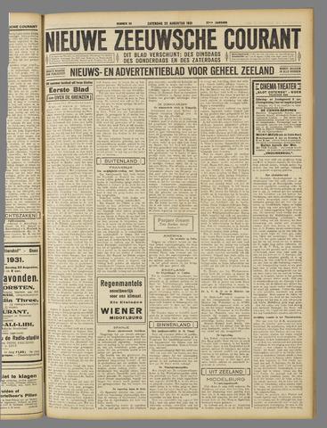 Nieuwe Zeeuwsche Courant 1931-08-22