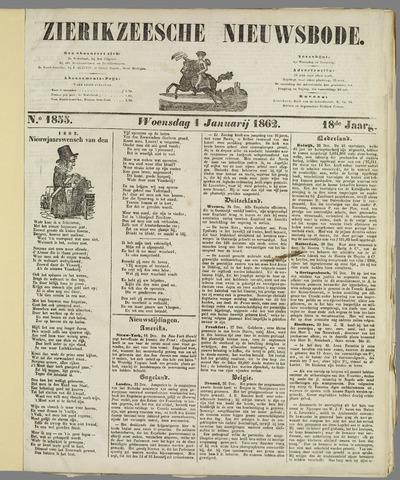 Zierikzeesche Nieuwsbode 1862