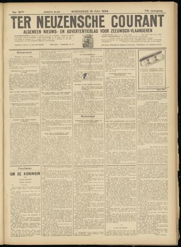 Ter Neuzensche Courant. Algemeen Nieuws- en Advertentieblad voor Zeeuwsch-Vlaanderen / Neuzensche Courant ... (idem) / (Algemeen) nieuws en advertentieblad voor Zeeuwsch-Vlaanderen 1934-07-18