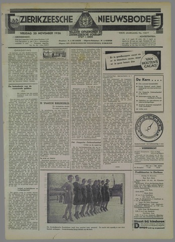 Zierikzeesche Nieuwsbode 1936-11-20