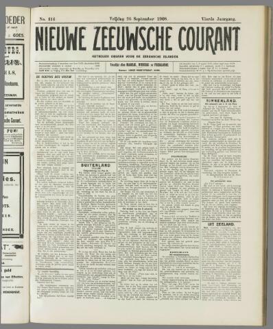 Nieuwe Zeeuwsche Courant 1908-09-26