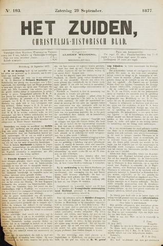 Het Zuiden, Christelijk-historisch blad 1877-09-29