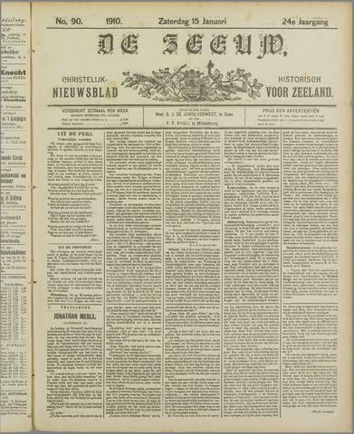 De Zeeuw. Christelijk-historisch nieuwsblad voor Zeeland 1910-01-15