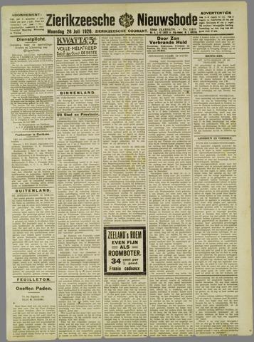 Zierikzeesche Nieuwsbode 1926-07-26