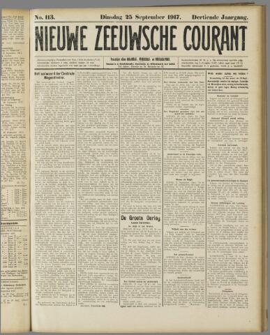 Nieuwe Zeeuwsche Courant 1917-09-25