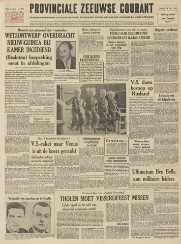Provinciale Zeeuwse Courant 1962-08-28