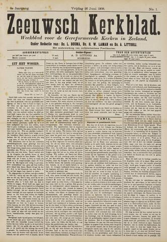 Zeeuwsche kerkbode, weekblad gewijd aan de belangen der gereformeerde kerken/ Zeeuwsch kerkblad 1908-06-26