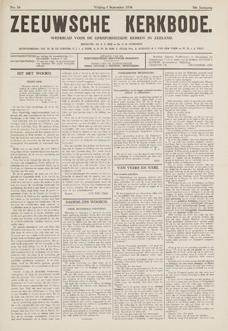 Zeeuwsche kerkbode, weekblad gewijd aan de belangen der gereformeerde kerken/ Zeeuwsch kerkblad 1936-09-04
