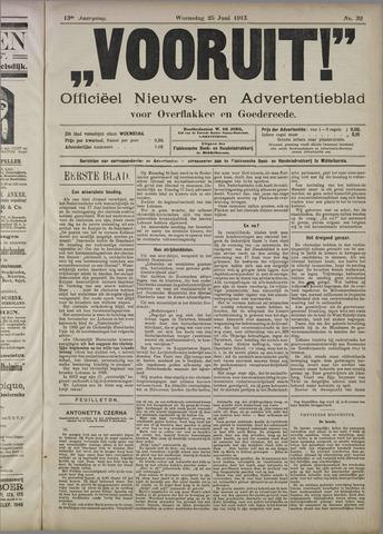 """""""Vooruit!""""Officieel Nieuws- en Advertentieblad voor Overflakkee en Goedereede 1913-06-25"""