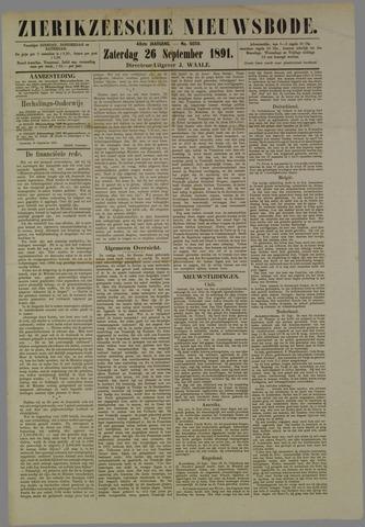 Zierikzeesche Nieuwsbode 1891-09-26