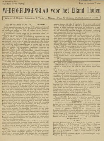 Eendrachtbode (1945-heden)/Mededeelingenblad voor het eiland Tholen (1944/45) 1945