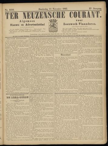 Ter Neuzensche Courant. Algemeen Nieuws- en Advertentieblad voor Zeeuwsch-Vlaanderen / Neuzensche Courant ... (idem) / (Algemeen) nieuws en advertentieblad voor Zeeuwsch-Vlaanderen 1897-11-11