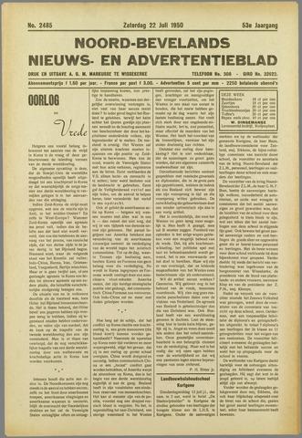 Noord-Bevelands Nieuws- en advertentieblad 1950-07-22