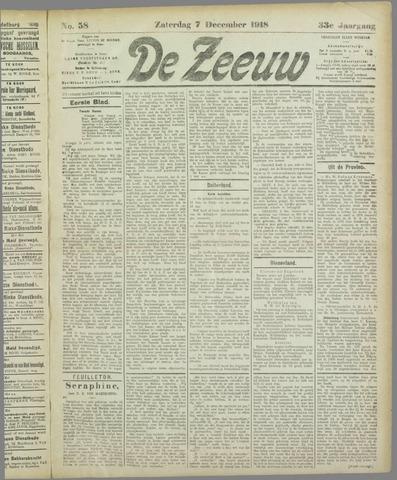 De Zeeuw. Christelijk-historisch nieuwsblad voor Zeeland 1918-12-07