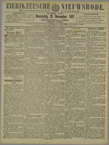 Zierikzeesche Nieuwsbode 1911-11-15