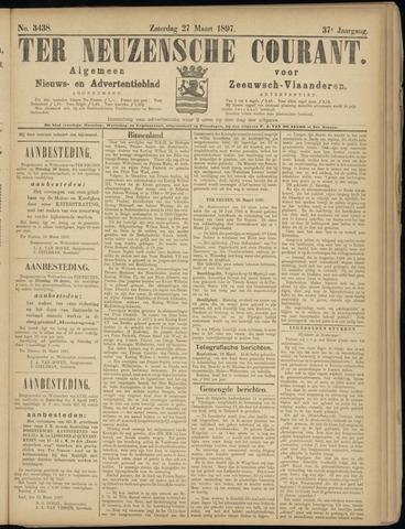 Ter Neuzensche Courant. Algemeen Nieuws- en Advertentieblad voor Zeeuwsch-Vlaanderen / Neuzensche Courant ... (idem) / (Algemeen) nieuws en advertentieblad voor Zeeuwsch-Vlaanderen 1897-03-27