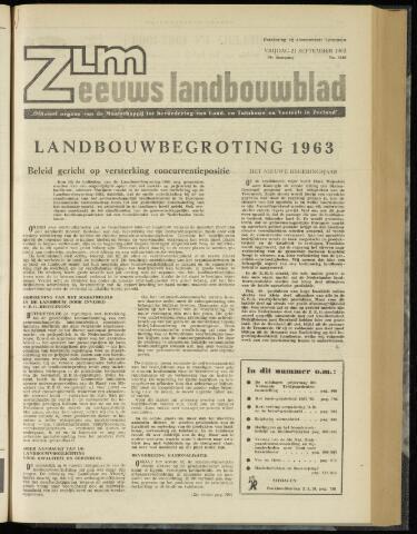 Zeeuwsch landbouwblad ... ZLM land- en tuinbouwblad 1962-09-21