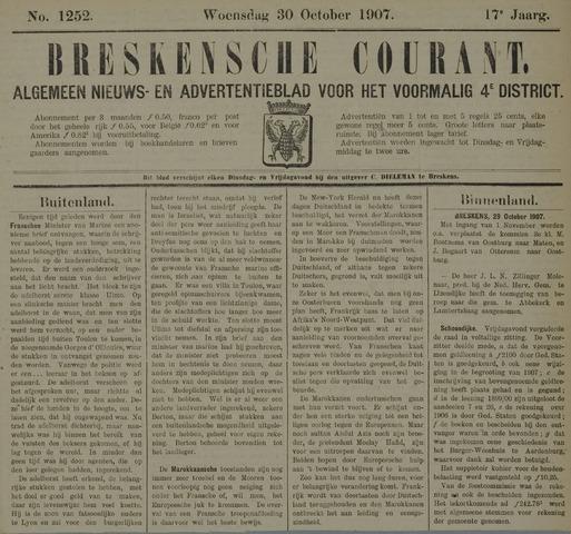 Breskensche Courant 1907-10-30