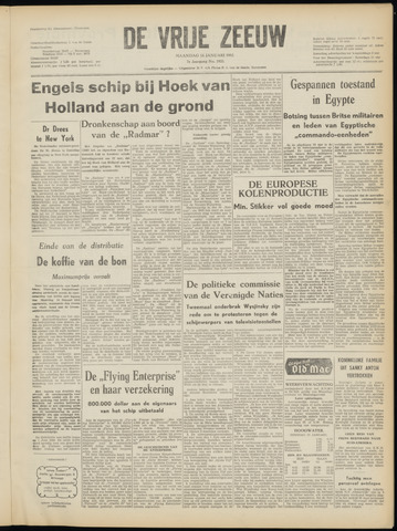 de Vrije Zeeuw 1952-01-14