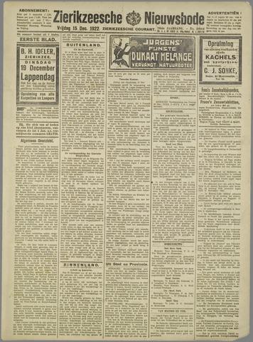 Zierikzeesche Nieuwsbode 1922-12-15