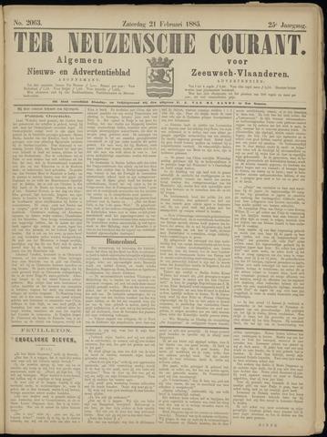 Ter Neuzensche Courant. Algemeen Nieuws- en Advertentieblad voor Zeeuwsch-Vlaanderen / Neuzensche Courant ... (idem) / (Algemeen) nieuws en advertentieblad voor Zeeuwsch-Vlaanderen 1885-02-21