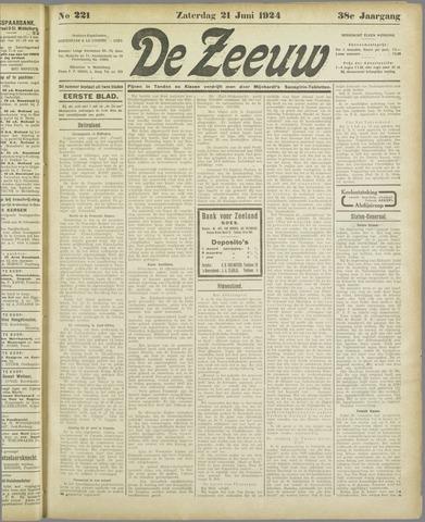 De Zeeuw. Christelijk-historisch nieuwsblad voor Zeeland 1924-06-21