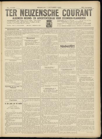 Ter Neuzensche Courant. Algemeen Nieuws- en Advertentieblad voor Zeeuwsch-Vlaanderen / Neuzensche Courant ... (idem) / (Algemeen) nieuws en advertentieblad voor Zeeuwsch-Vlaanderen 1940-10-07
