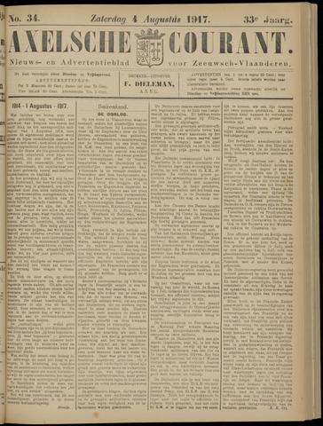 Axelsche Courant 1917-08-04