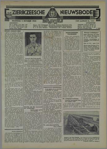 Zierikzeesche Nieuwsbode 1942-10-05