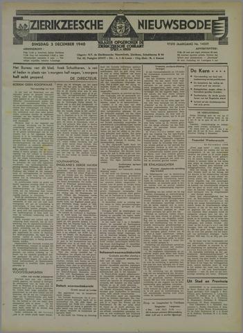 Zierikzeesche Nieuwsbode 1940-12-03
