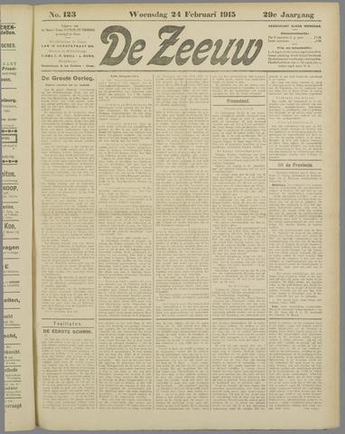 De Zeeuw. Christelijk-historisch nieuwsblad voor Zeeland 1915-02-24