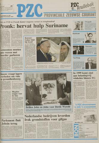 Provinciale Zeeuwse Courant 1991-11-12