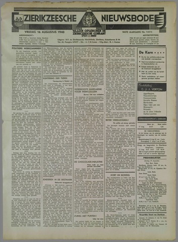 Zierikzeesche Nieuwsbode 1940-08-16