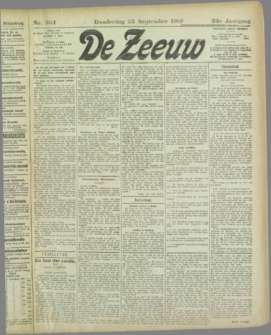 De Zeeuw. Christelijk-historisch nieuwsblad voor Zeeland 1919-09-25