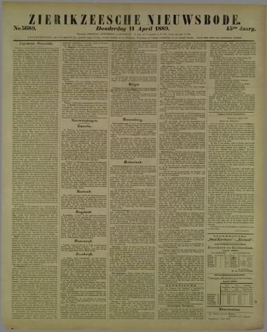 Zierikzeesche Nieuwsbode 1889-04-11