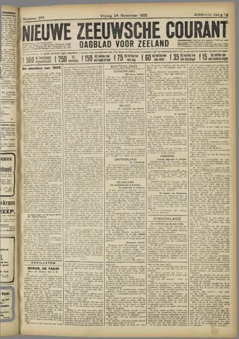 Nieuwe Zeeuwsche Courant 1922-11-24