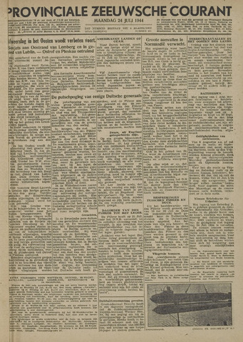 Provinciale Zeeuwse Courant 1944-07-24