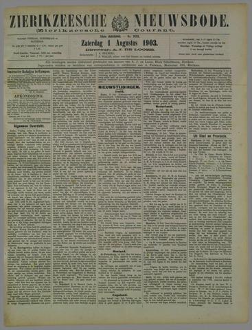 Zierikzeesche Nieuwsbode 1903-08-01