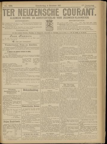 Ter Neuzensche Courant. Algemeen Nieuws- en Advertentieblad voor Zeeuwsch-Vlaanderen / Neuzensche Courant ... (idem) / (Algemeen) nieuws en advertentieblad voor Zeeuwsch-Vlaanderen 1917-10-04