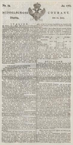 Middelburgsche Courant 1762-06-22