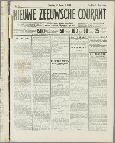 Nieuwe Zeeuwsche Courant 1917-07-16