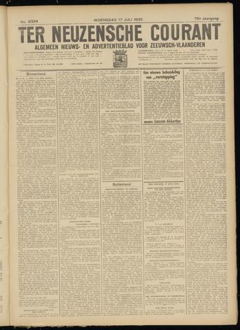 Ter Neuzensche Courant. Algemeen Nieuws- en Advertentieblad voor Zeeuwsch-Vlaanderen / Neuzensche Courant ... (idem) / (Algemeen) nieuws en advertentieblad voor Zeeuwsch-Vlaanderen 1935-07-17