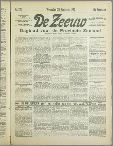 De Zeeuw. Christelijk-historisch nieuwsblad voor Zeeland 1930-08-20