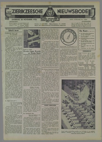 Zierikzeesche Nieuwsbode 1936-11-28