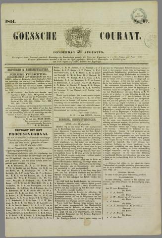 Goessche Courant 1851-08-21