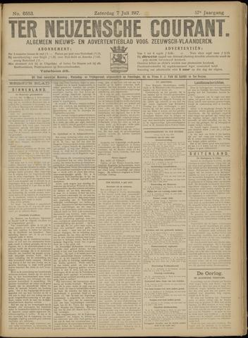 Ter Neuzensche Courant. Algemeen Nieuws- en Advertentieblad voor Zeeuwsch-Vlaanderen / Neuzensche Courant ... (idem) / (Algemeen) nieuws en advertentieblad voor Zeeuwsch-Vlaanderen 1917-07-07